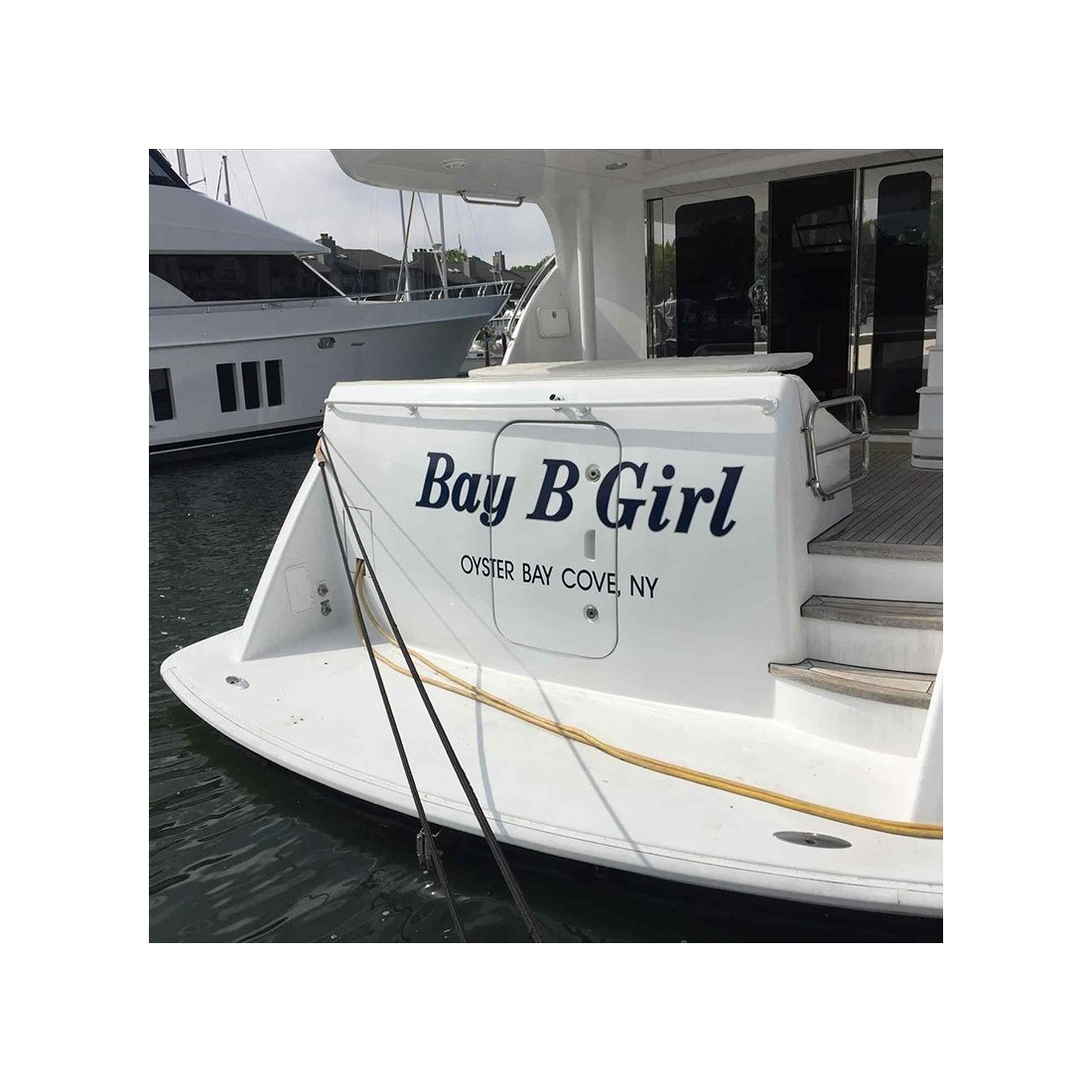 Custom Boat Lettering Vinyl Decals Without Background